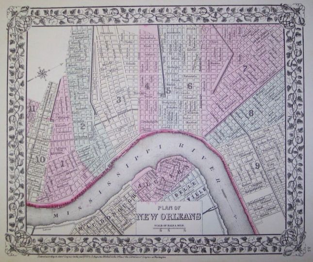 800px-New_Orleans_Wards_1-11_Augustus_Mitchell_map